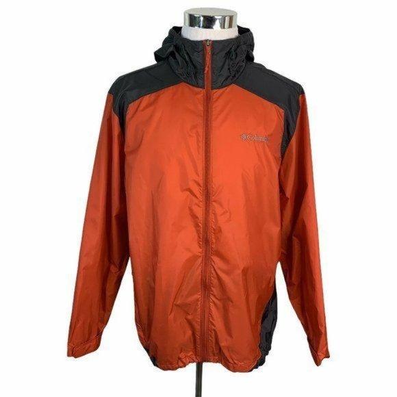 Columbia Full Zip Up Hooded Windbreaker Jacket